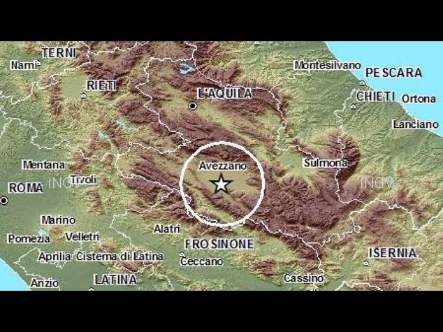 Terremoto: paura per una scossa di 4,1 in Abruzzo. Nessun danno