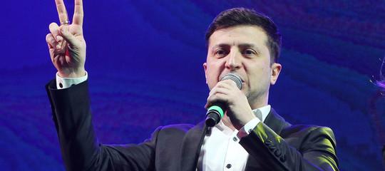 Ucraina elezioni favorito comico zelensky
