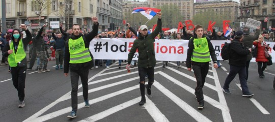 proteste serbia albania