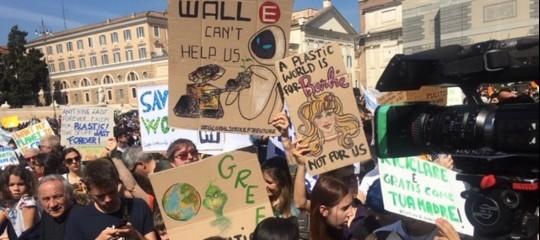 greta ambiente manifestazione roma