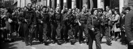L'ingresso dei partigiani a Milano il 25 aprile del 1945