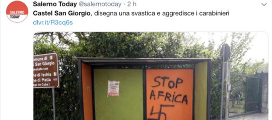 stop africa svastica salernitano