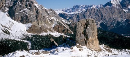 Nevicata di primavera sulle Dolomiti