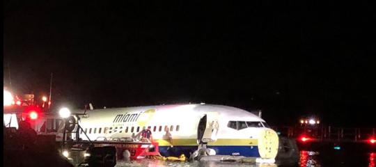 boeing 737 fuori pista