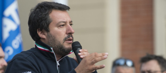 Busta con proiettile a Salvini