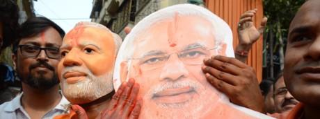 Sostenitori di Narendra Modi