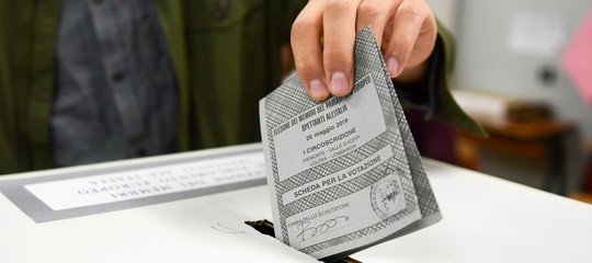 elezioni scheda votata