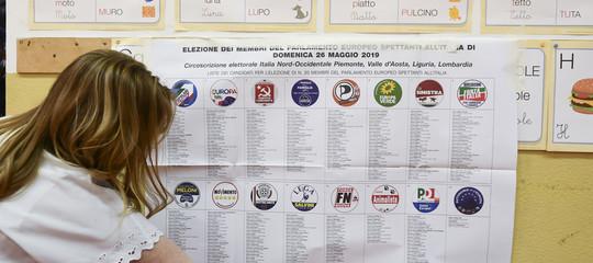 elezioni europee italia proiezioni sessioni