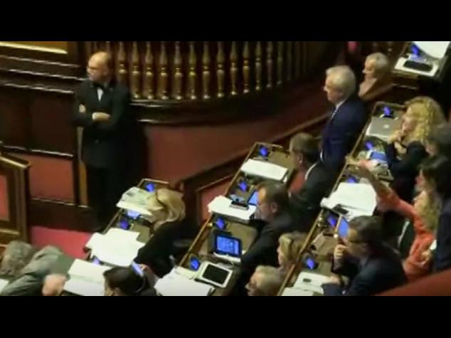 Riforme: bagarre in Aula, insulti fra verdiniani e M5S