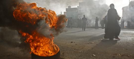 sudan strage sit in proteste