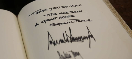 cosa racconta firma trump