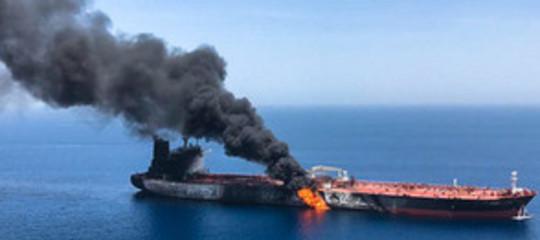 petroliere attaccate golfooman video iranusa