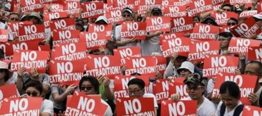 Hong Kong protesta tecnologie digitali