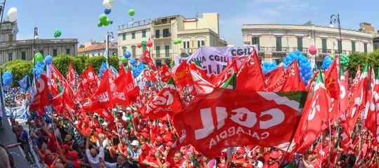 manifestazione sindacati reggio calabria