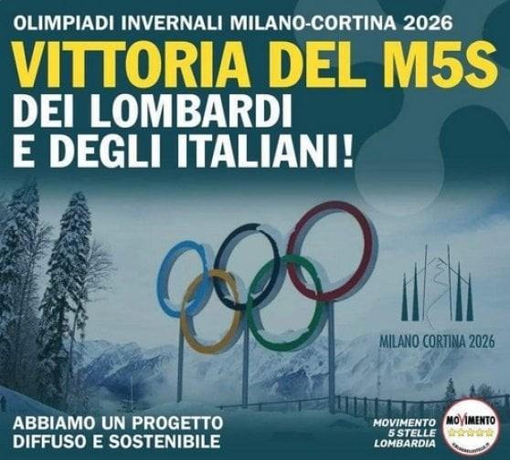 Il post pro-olimpiadi pubblicato e poi cancellato dal M5Slombardo su Facebook