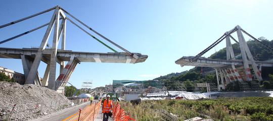 Ponte Genova prima colata cemento