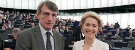 David Sassoli e Ursula von der Leyen