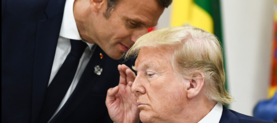 trump macron apple google