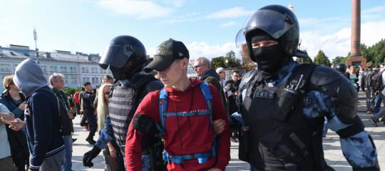 arresti manifestazioni proteste mosca navalny