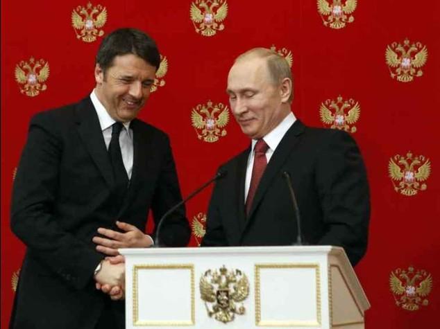 Renzi a Mosca da Putin, asse sulla Libia