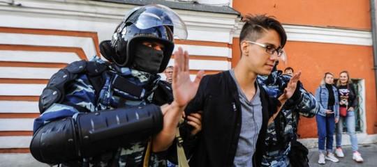 proteste mosca arresti