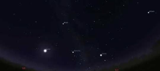 cielo ferragosto stelle cadenti luna giove saturno
