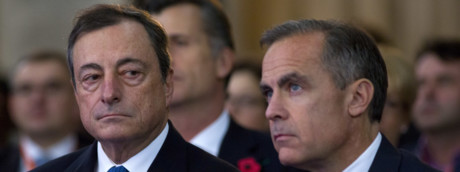 Mario Draghi e Mark Carney