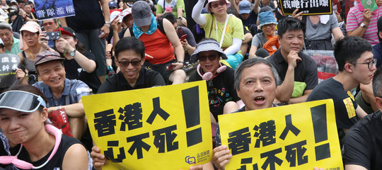 Hong Kong protesta Victoria Park