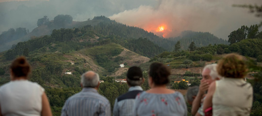 Spagna incendio Gran Canaria
