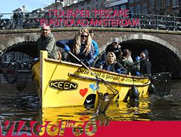 """I tour per """"pescare"""" plastica ad Amsterdam"""