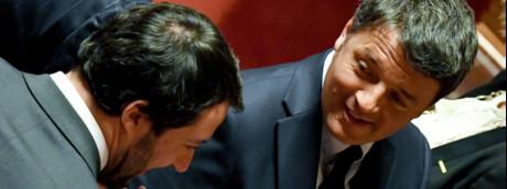 Salvini e Renzi al Senato (foto del 2018)