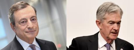 Mario Draghi e Jerome Powell