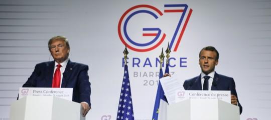 G7 biarritztrump macroniran
