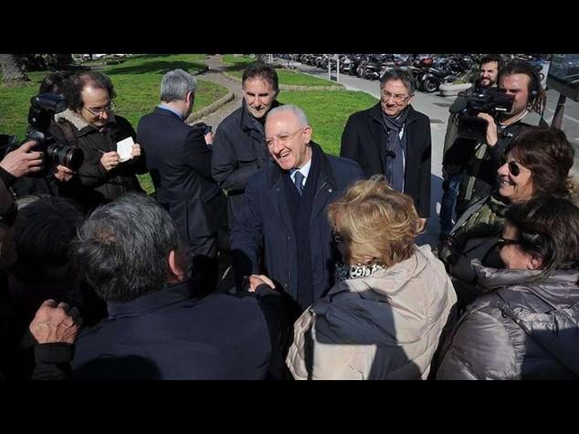Primarie Pd: in Campania trionfa De Luca. Inascoltato Saviano