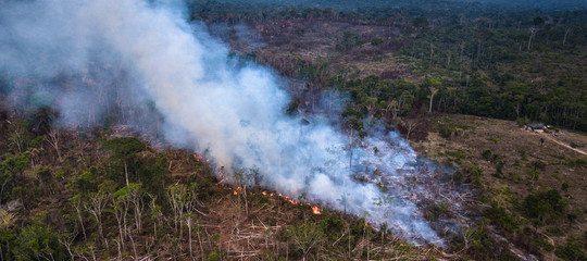 fiume volante amazzonia incendi