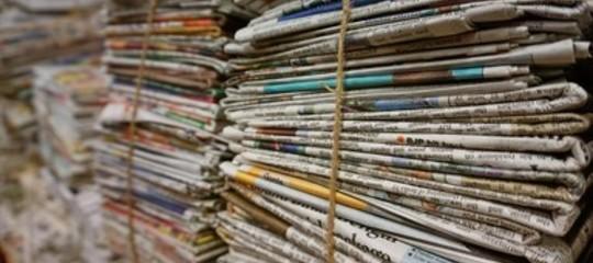 giornali racconto scissione pd renzi