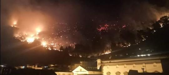 sarno incendio evacuazione
