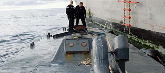 sottomarino carico cocaina