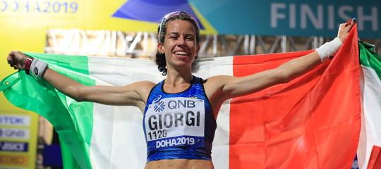 Atletica eleonoraGiorgi bronzo marcia