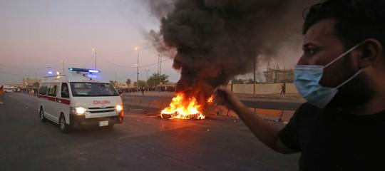 proteste iraq morti