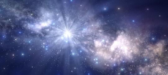 esplosione centro via lattea spazio