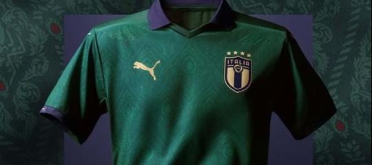 italia calcio maglia verde
