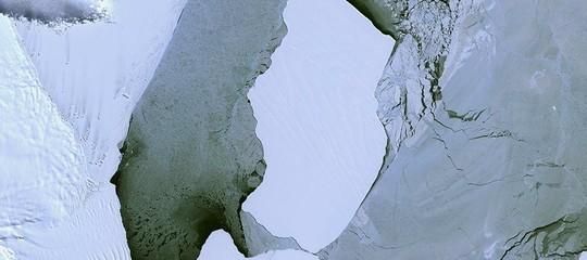 distacco iceberg antartide