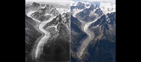 monte bianco perdita ghiaccio 100 anni