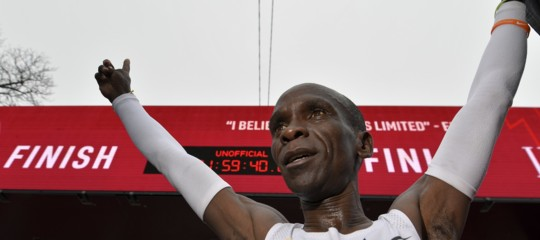 record Maratona sotto 2 ore eliudKipchoge