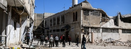 Siria, macerie (Afp)