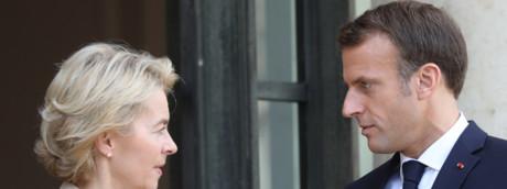 Ursula von der Leyen ed Emmanuel Macron