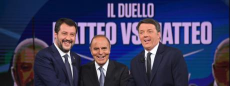 Matteo Renzi, Matteo Salvini, Bruno Vespa
