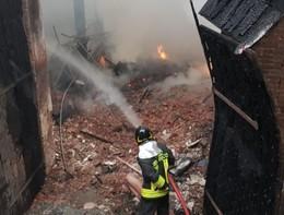 In fiamme il tetto della Cavallerizza Reale di Torino, nessun ferito