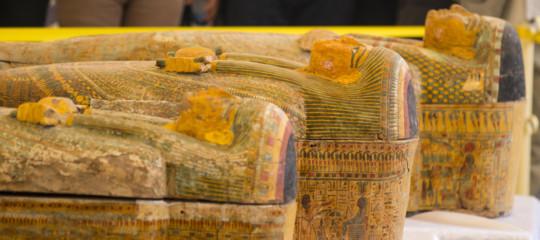 sarcofagi ritrovati egitto
